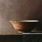 Persian bowl  oil on wood  81 x 105 cm