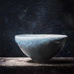 Small Japanese bowl  oil on wood  50 x 50 cm