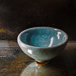Small Japanese bowl II  oil on wood  50 x 50 cm